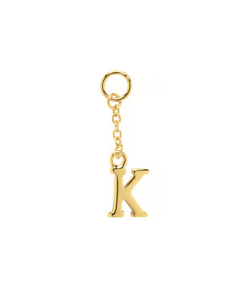 OLIVIA BURTON LONDON  K Alphabet Huggie Charm Gold OBJ16HCGK – Charms - Front view