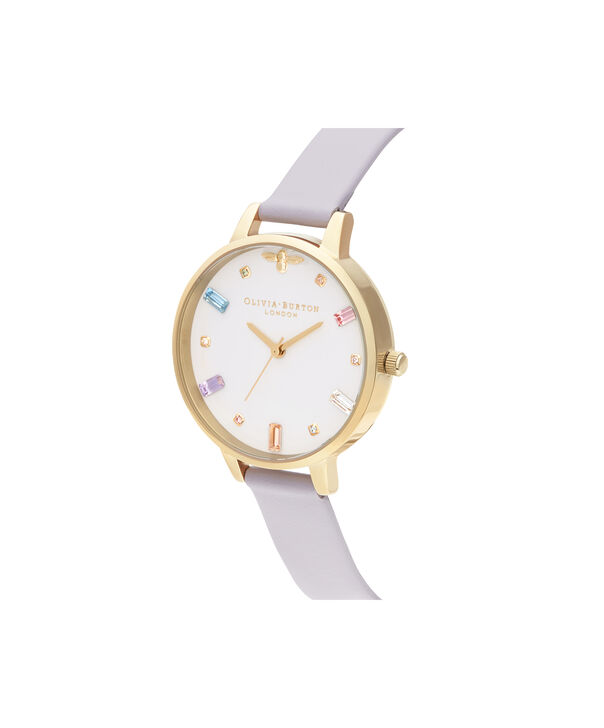 OLIVIA BURTON LONDON Rainbow Bee Demi Parma Violet & GoldOB16RB11 – Demi Dial In Parma Violet And Gold - Side view