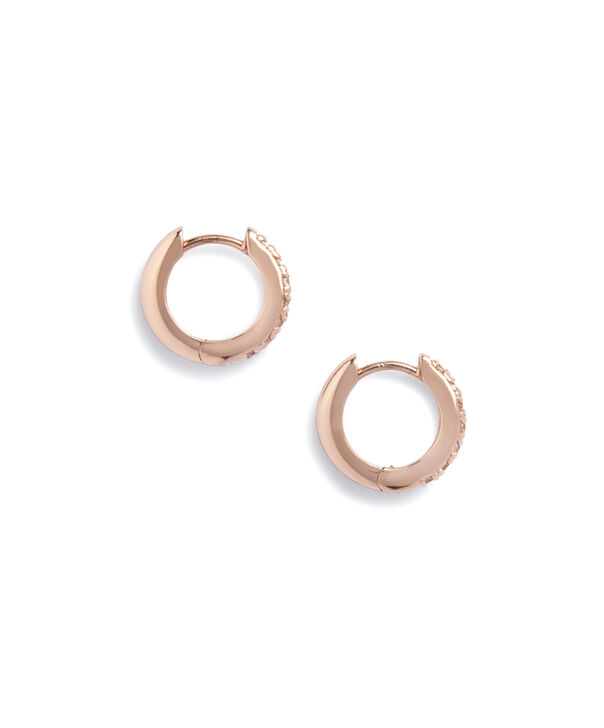 OLIVIA BURTON LONDON Huggie Hoop Earrings with White TopazOBJ16COE22 – Huggie Hoop Earrings - Side view