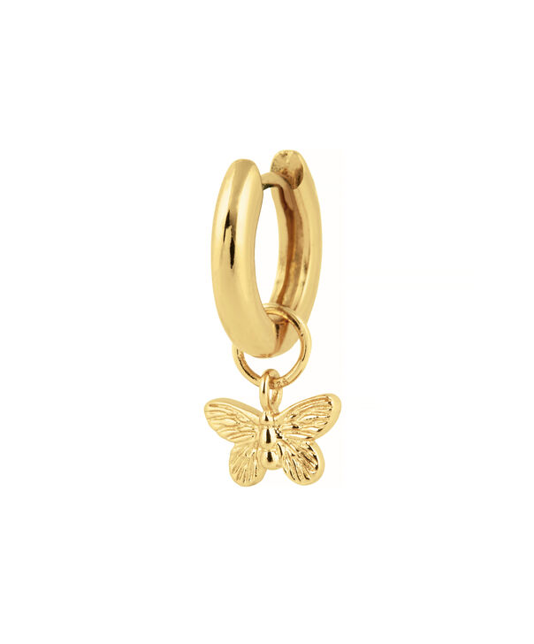 OLIVIA BURTON LONDON  Butterfly Huggie Charm Gold OBJ16MBE04 – Charms - Side view