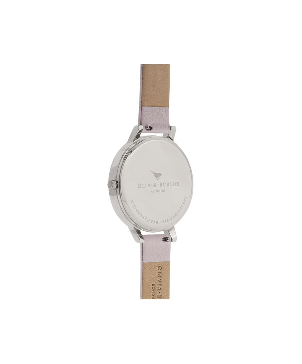 OLIVIA BURTON LONDON  White Dial Silver and Blossom Watch OB16BDW34 – Big Dial Round in White and Silver - Back view