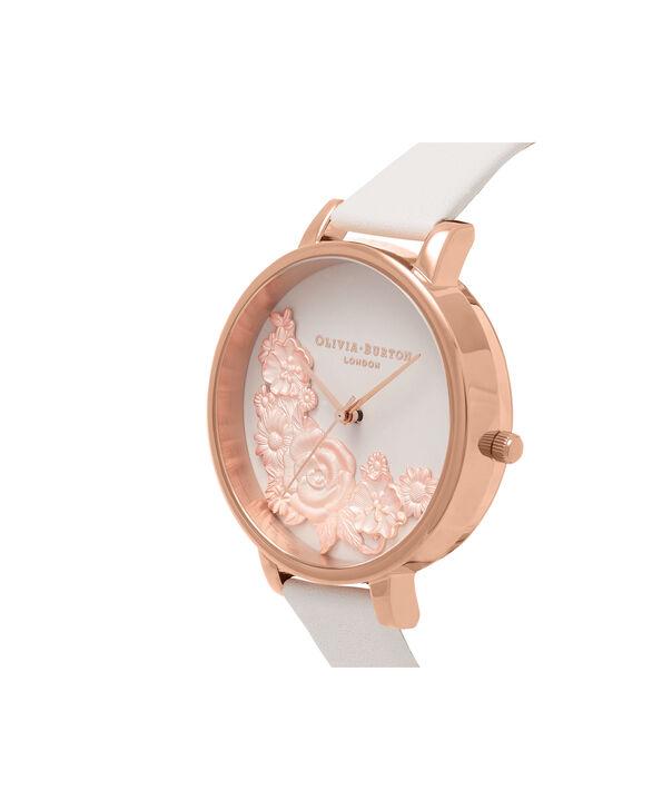 OLIVIA BURTON LONDON  3D Bouquet Blush & Rose Gold Watch OB16FS85 – Big Dial Round in Blush - Side view