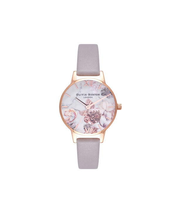 Ladies Marble Floral Rose Gold Watch  | Olivia Burton London