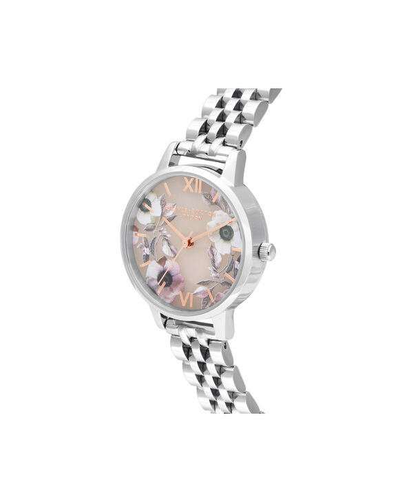 OLIVIA BURTON LONDON Midi Rose Quartz & Silver BraceletOB16SP07 – Midi Dial in Silver and Silver - Side view