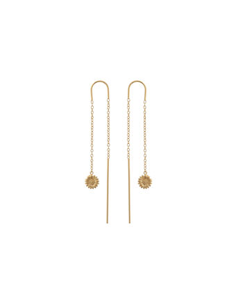 OLIVIA BURTON LONDON 3D DaisyOBJ16DAE16 – 3D Daisy Drop Chain Earrings - Front view
