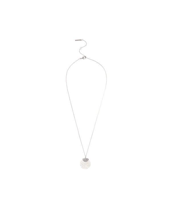OLIVIA BURTON LONDON Semi Precious Necklace Silver & Rose QuartzOBJ16AMN24 – Semi Precious Necklace - Side view