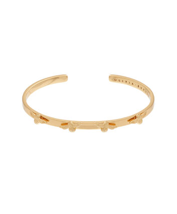 OLIVIA BURTON LONDON  3D Bee Bangle Gold OBJ16AMB35 – 3D Bee Bangle - Front view