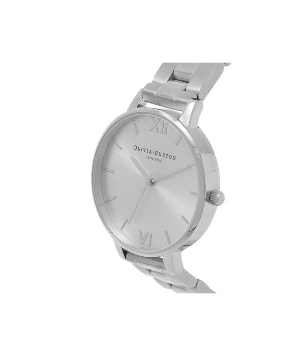 OLIVIA BURTON LONDON  Big Dial Bracelet Silver Watch OB15BL22 – Big Dial Round in Silver - Side view