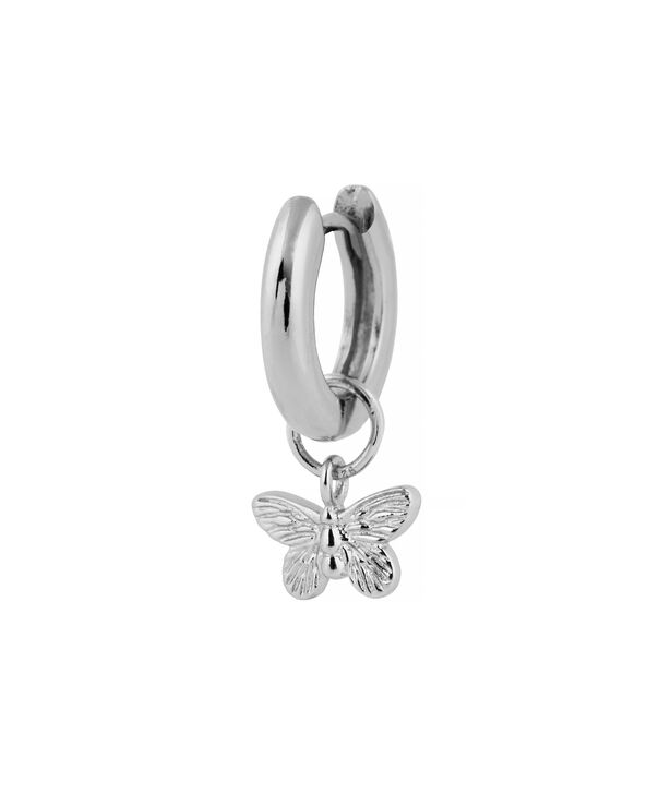 OLIVIA BURTON LONDON  Butterfly Huggie Charm Silver OBJ16MBE06 – Charms - Side view