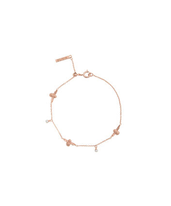 OLIVIA BURTON LONDON  Pearl Bee Chain Bracelet Rose Gold OBJ16AMB41 – Pearl Bee Chain Bracelet - Front view