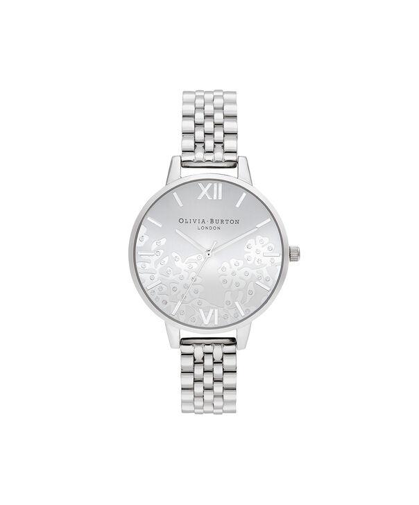 OLIVIA BURTON LONDON Bejewelled Lace  Silver BraceletOB16MV101 – Bejewlled Lace  Silver Bracelet - Front view