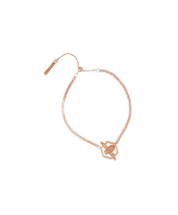 OLIVIA BURTON LONDON  Honeycomb Bee Chain Bracelet Rose Gold  OBJ16AMB31 – Honeycomb Bee Chain Bracelet - Front view
