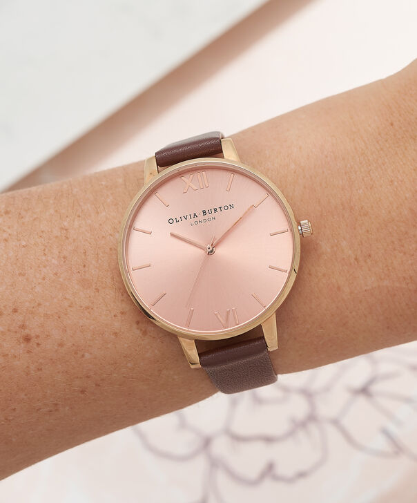 OLIVIA BURTON LONDON  Big Dial Chocolate & Rose Gold Watch OB16BD105 – Big Dial in Rose Gold and Chocolate - Other view