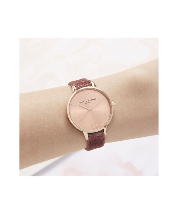 OLIVIA BURTON LONDON Sunray Demi Dial Watch with Rose VelvetOB16DE03 – Demi Dial in pink and Rose Gold - Other view