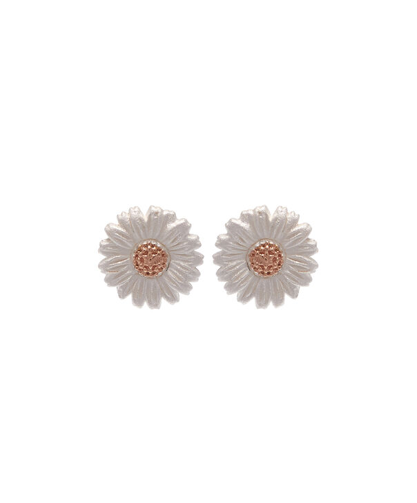 OLIVIA BURTON LONDON  Daisy Stud Earrings Rose Gold OBJ16DAE02 – 3D Daisy Stud Earrings - Front view