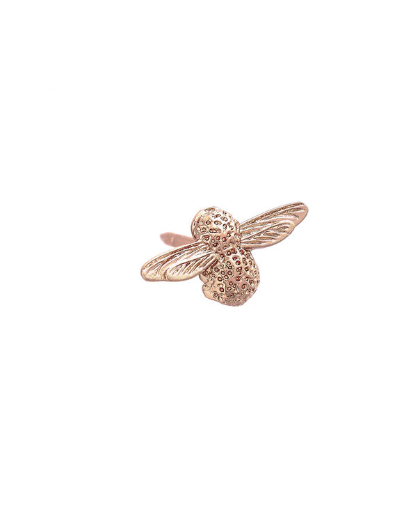 OLIVIA BURTON LONDON  Rose Gold Bee Pin  OBPIN02 – Bee Pin in Rose Gold - Side view