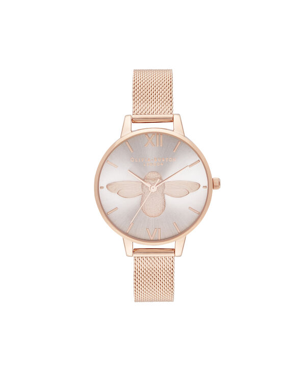 OLIVIA BURTON LONDON Demi Blush Dial & Rose Gold MeshOB16AM161 – Demi Dial in Rose Gold and Rose Gold - Front view