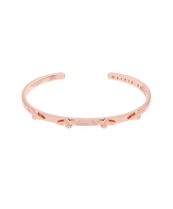 OLIVIA BURTON LONDON  3D Bee Bangle Rose Gold OBJ16AMB34 – 3D Bee Bangle - Front view