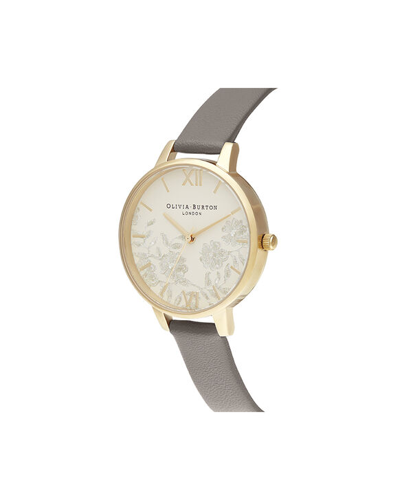 OLIVIA BURTON LONDON Demi Nude Dial Vegan London Grey & GoldOB16MV98 – Demi Dial in London Grey and Gold - Side view