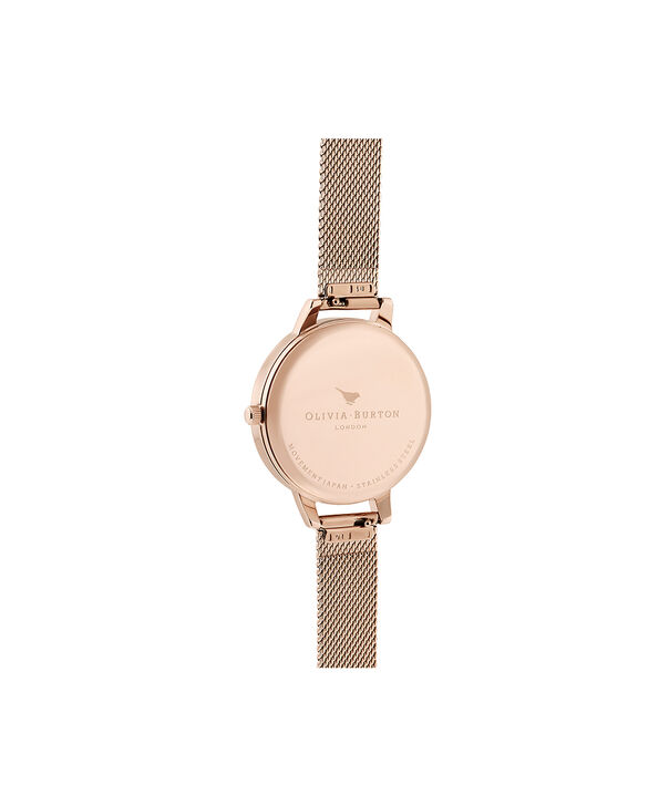 OLIVIA BURTON LONDON Wildflower Pale Rose Gold MeshOB16LP01 – Wild Flower Pale Rose Gold Mesh - Back view