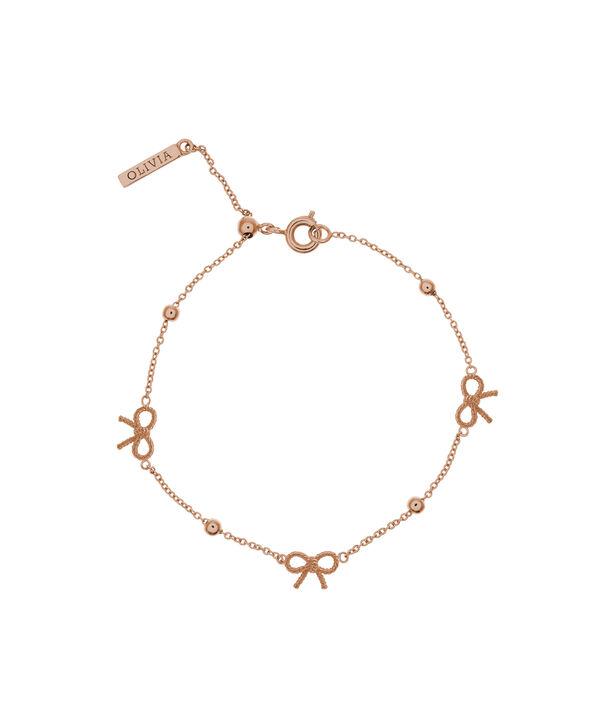 OLIVIA BURTON LONDON  Bow and Ball Bracelet Rose Gold OBJ16VBB09 – Vintage Bow Chain Bracelet - Front view