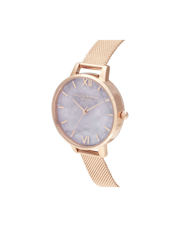 OLIVIA BURTON LONDON Demi Amethyst Rose GoldOB16SP16 – Demi Dial in London Grey and Rose Gold - Side view