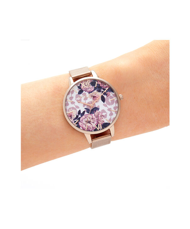 OLIVIA BURTON LONDON Wildflower Pale Rose Gold MeshOB16LP01 – Wild Flower Pale Rose Gold Mesh - Other view