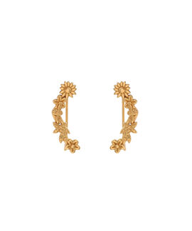 Bee Blooms Crawler Earrings Gold