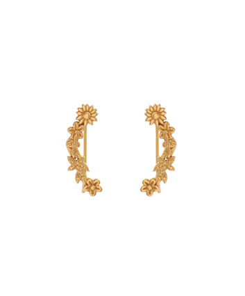 OLIVIA BURTON LONDON  Bee Blooms Crawler Earrings Gold  OBJ16BBE02 – Bee Blooms Crawler Earrings - Front view
