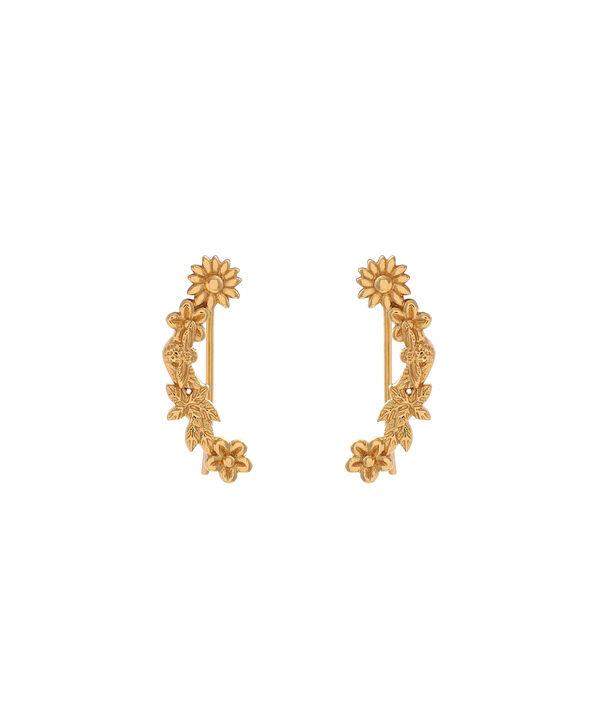 OLIVIA BURTON LONDON  Bee Blooms Crawler Earrings Gold  OBJ16BBE02 – Bee Blooms Crawler Earrings - Front view