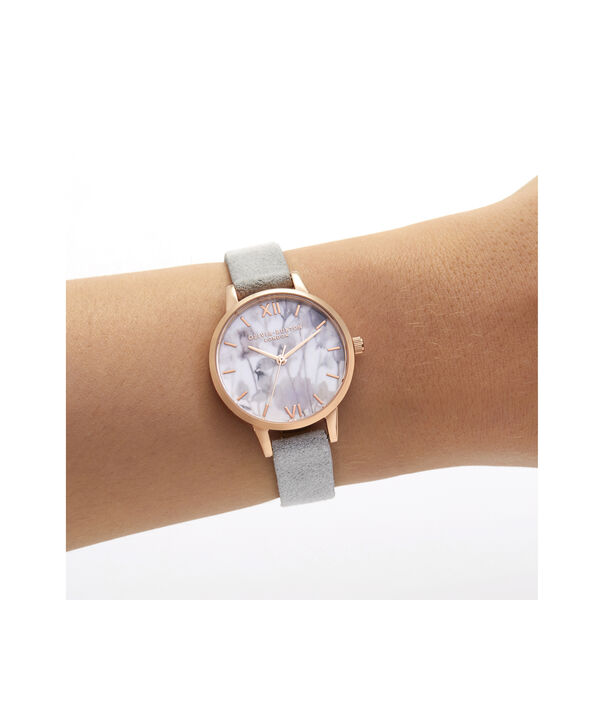OLIVIA BURTON LONDON Eco-Friendly Midi Dial Rose Gold WatchOB16VE14 – Midi Dial in grey and Rose Gold - Other view