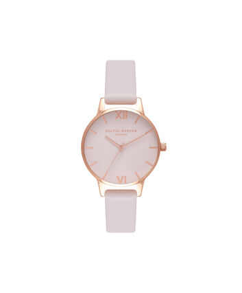 OLIVIA BURTON LONDON Sunray DialOB16MD82 – Midi Dial Round inRed Gold and Blush - Front view