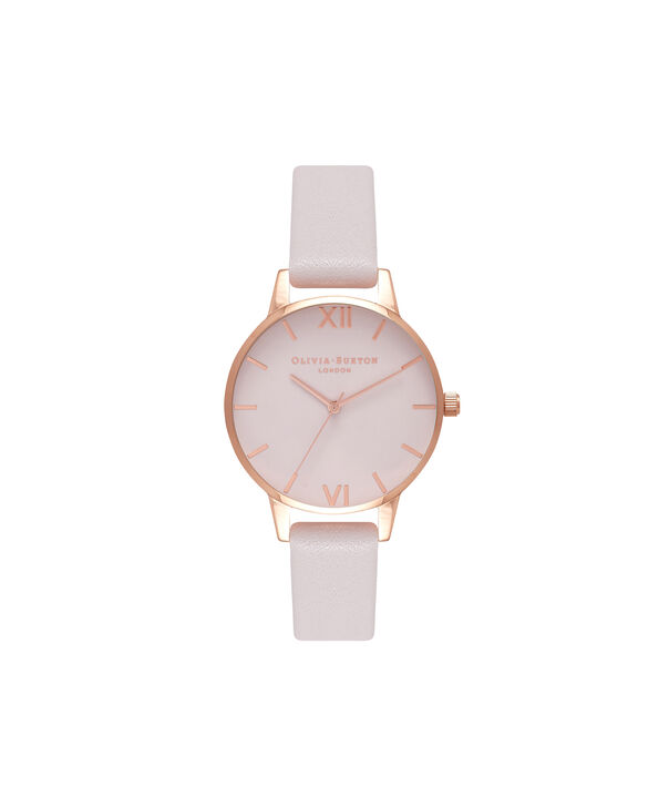 OLIVIA BURTON LONDON  Midi Dial Blush & Rose Gold Watch OB16MD82 – Midi Dial Round inRed Gold and Blush - Front view