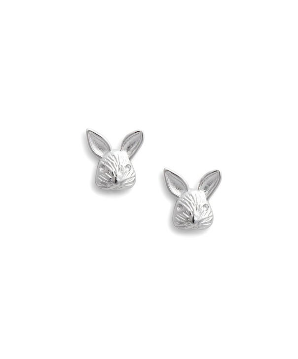 OLIVIA BURTON LONDON 3D Bunny Studs SilverOBJAME111 – 3D Bunny Studs Silver - Front view