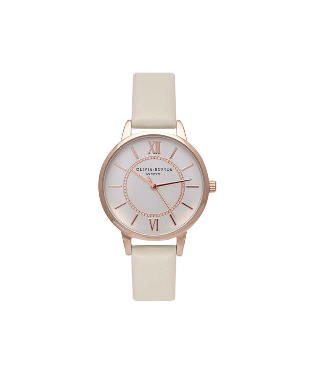 OLIVIA BURTON LONDON  Wonderland Nude & Rose Gold Watch OB16WD65 – Midi Dial Round in Rose Gold and Nude - Front view