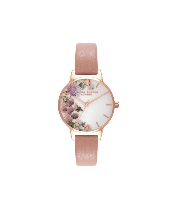 Ladies Enchanted Garden Dusty Pink & Rose Gold Watch | Olivia Burton London