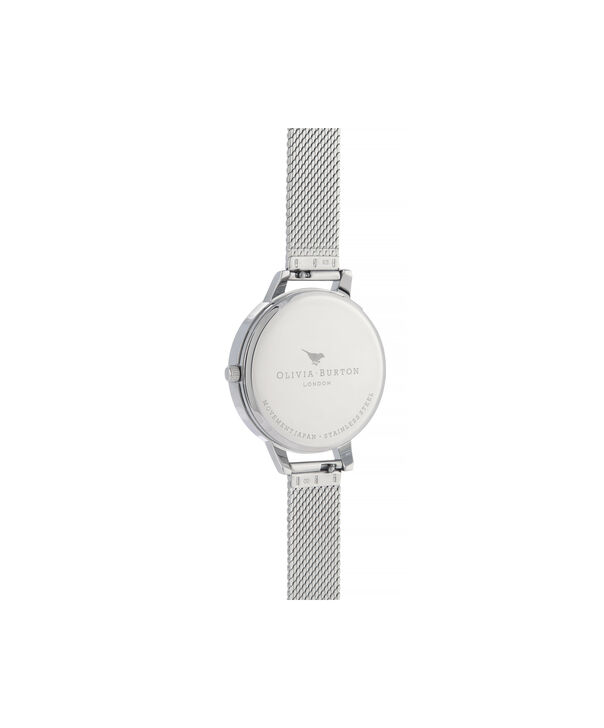 OLIVIA BURTON LONDON Sunray Demi Dial Watch with Boucle MeshOB16DE02 – Demi Dial in silver and Silver & Gold - Back view
