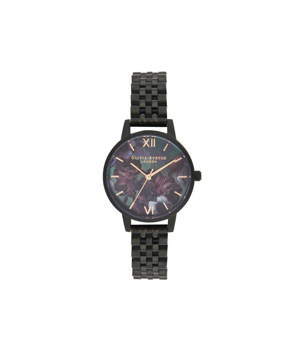OLIVIA BURTON LONDON After Dark Midi Dial WatchOB16AD41 – Midi Dial in black and Black & Rose Gold - Front view