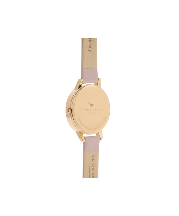 OLIVIA BURTON LONDON  Abstract Florals Vegan Rose Sand & Gold OB16VM31 – Midi Dial Round in Gold and Pink - Back view