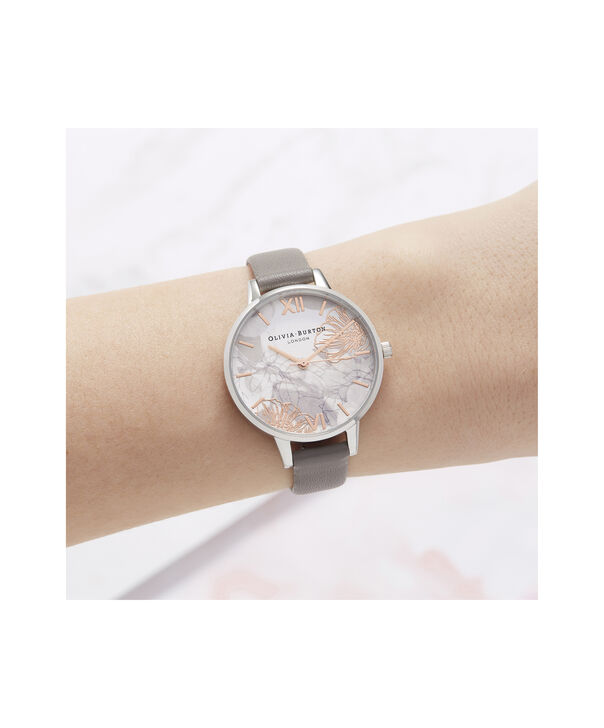 OLIVIA BURTON LONDON Abstract Florals Demi Dial WatchOB16VM32 – Demi Dial in grey and Silver - Other view