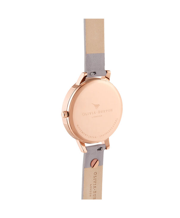 OLIVIA BURTON LONDON Enchanted Garden Demi Grey Lilac & Rose GoldOB16EG129 – Demi Dial In Grey And Rose Gold - Back view