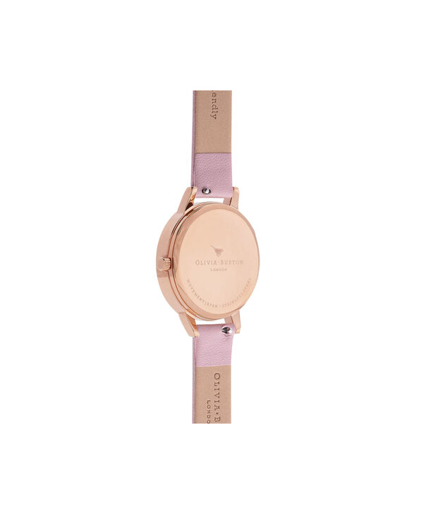 OLIVIA BURTON LONDON  Vegan Friendly Enchanted Garden Rose Sand & Rose Gold Watch OB16VE08 – Midi Dial Round in Rose Gold and Rose - Back view