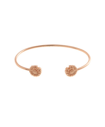 OLIVIA BURTON LONDON  Daisy Open Ended Bangle Rose Gold OBJ16DAB04 – 3D Daisy Bangle - Front view