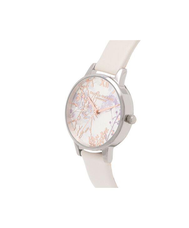 OLIVIA BURTON LONDON Illustrated Animals Vegan Bunny, Blush, Rose Gold & Silver OB16WL71 – Midi Dial Round in Rose Gold and Pink - Side view
