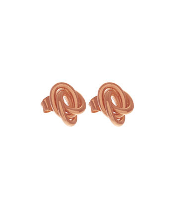 OLIVIA BURTON LONDON Forget Me Knot Earrings Rose GoldOBJ16KDE02 – Forget Me Knot Earrings - Front view