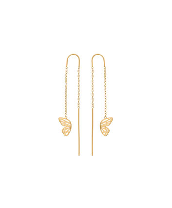 OLIVIA BURTON LONDON Butterfly WingOBJ16EBE01 – Butterfly Wing Chain Earrings - Front view