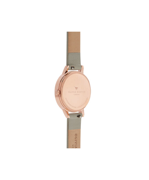 OLIVIA BURTON LONDON  Dark Bouquet Grey & Rose Gold Watch OB16EG80 – Midi Dial in Rose Gold and Grey - Back view