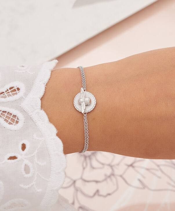 OLIVIA BURTON LONDON 3D Bee & Coin Chain Bracelet Silver OBJ16AMB24 – 3D Bee Chain Bracelet - Other view