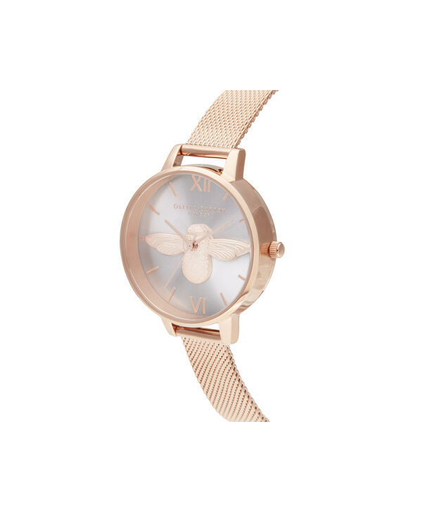 OLIVIA BURTON LONDON Demi Blush Dial & Rose Gold MeshOB16AM161 – Demi Dial in Rose Gold and Rose Gold - Side view