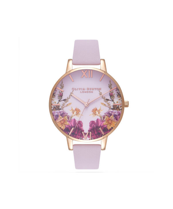 OLIVIA BURTON LONDON  Enchanted Gardens Blossom & Rose Gold Watch OB16EG81 – Big Dial Round in Blossom and Floral - Front view